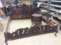 Реставрация кровати с резьбой