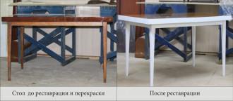 Перекраска полированного стола.