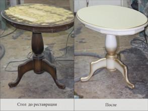 Реставрация и перекраска стола.