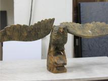 Реставрация деревянного орла