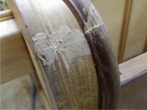 Реставрация, шпаклевание трещин.