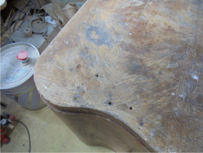 Стол до реставрации