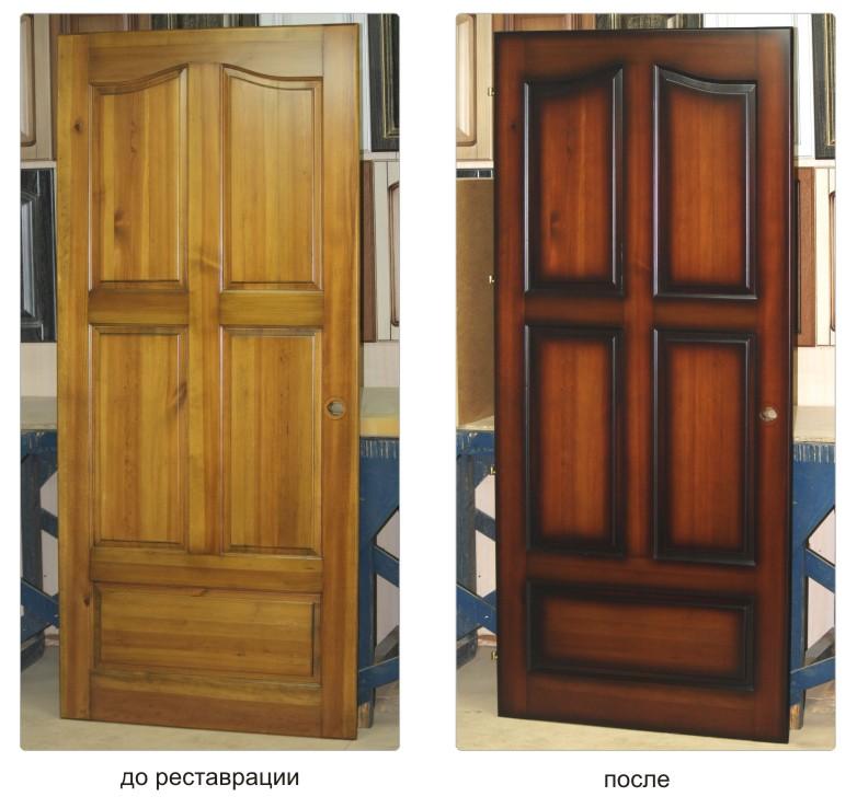 как реставрировать старую дубовую дверь разговаривая человеком, задавая