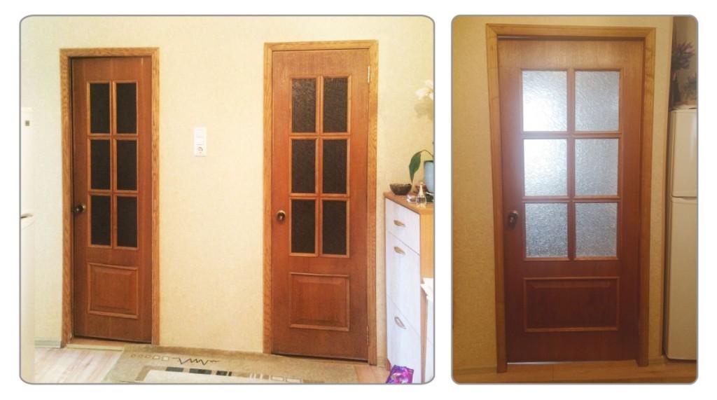 двери в квартире заказчицы